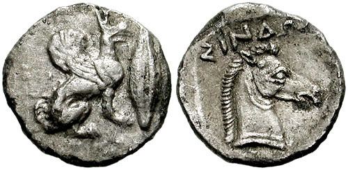 Диабол-413г. до н.э. -Грифон, зерно+конь-ΣINΔΩN