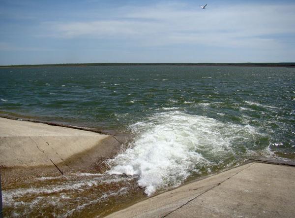 Феодосийское водохранилище наполнено чистейшей водой.