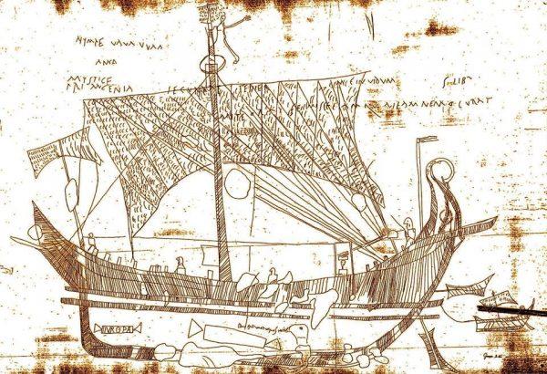 Корабль с назв. ЕВРОПА в Дом Европы, в Помпеях