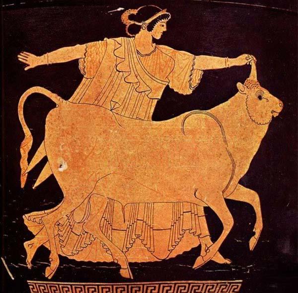 Европа и Зевс-бык-древ. Аттика-500 г. до н.э.
