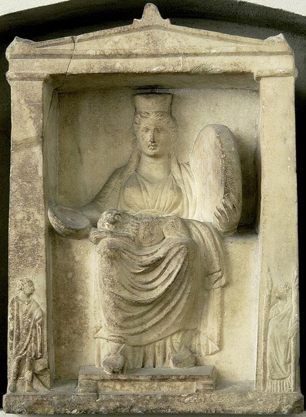 Кибела - мать богов, со львом