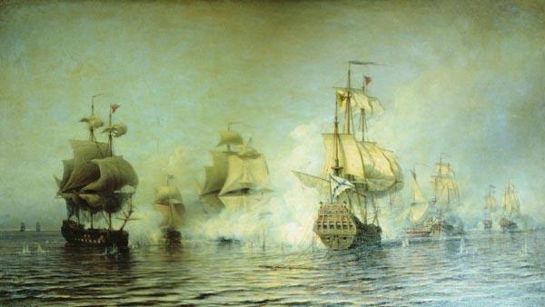 1-Бой у острова Эзель 24 мая 1719 года.