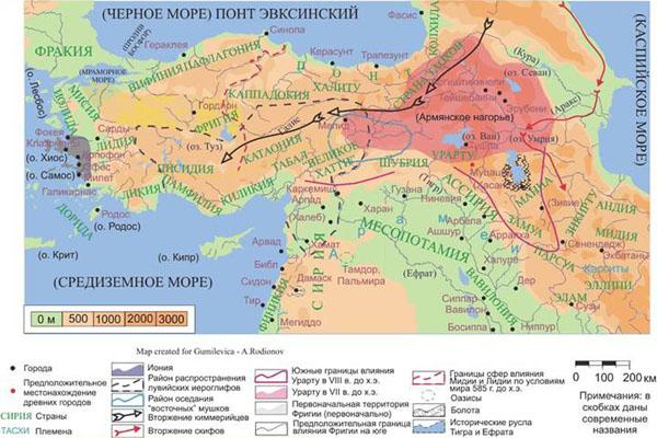 карта-армянского нагорья-каппадокия