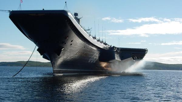 27 Путин выступил с борта авианосца -Адмирал Кузнецов
