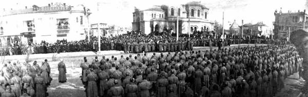 Март 1917 года - присяга евпаторийского гарнизона Временному Правительству
