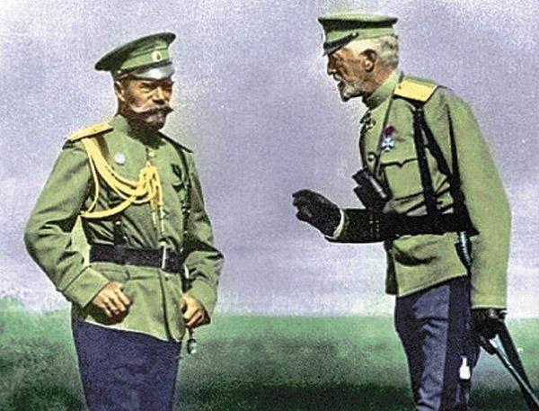 Николай II и великий князь Николай Николаевич