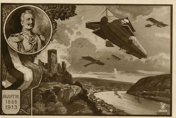 арм-Австро-венгер. открытка, к 25-летию авиации