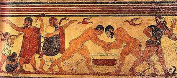 спорт-Тарквиния гробницы Тифона. , I век до н.э.
