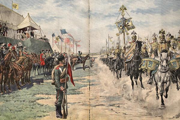 1-Французский конный парад в честь приезда Николая II