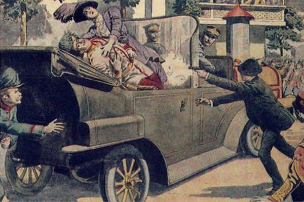 1914 г. убийство в г. Сараеве австрийского эрцгерцога Франца Фердинанд