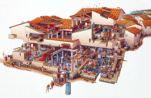 Милет-436 г. до н.э. - торговый дом купца