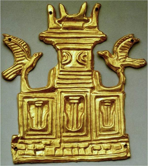 золотая нашивка - Святилище с рогами белого быка, из Микен