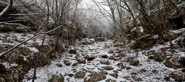 Староримская дорога - Спирады, январь 2013