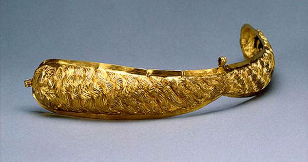 Золотое украшение с зернью. Тамань. Курган Большая Близница