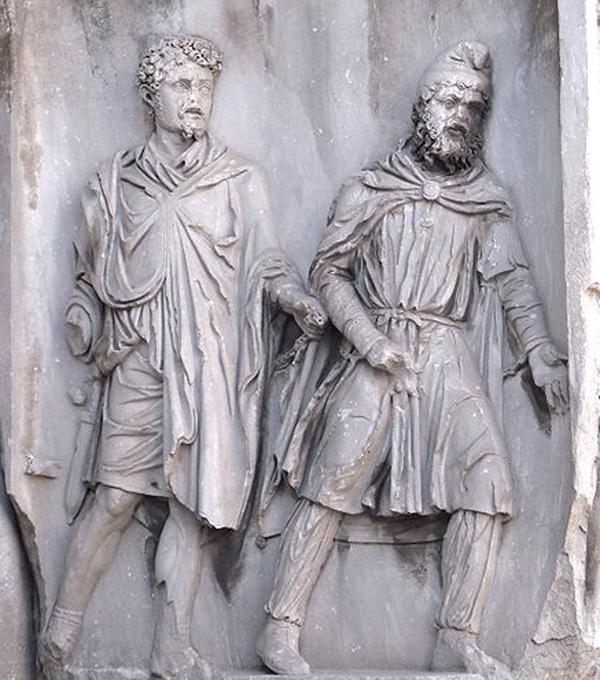 2-Парфянский солдат -Арка Септимия Севера, Рим, 203 г. н.э.