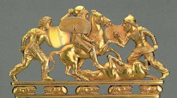 2-оружие-Скифы против грека в коринфском шлеме