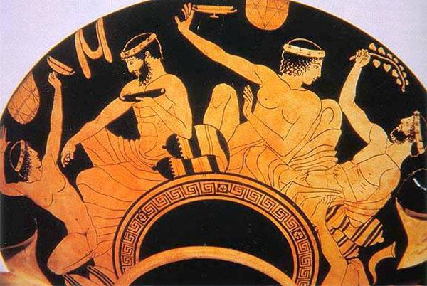 Ваза из кургана этрусской гробницы Тарквиния (tarquinia), 470-460 гг. до н.