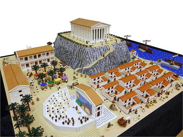 Афины-макет-античный мир - афины