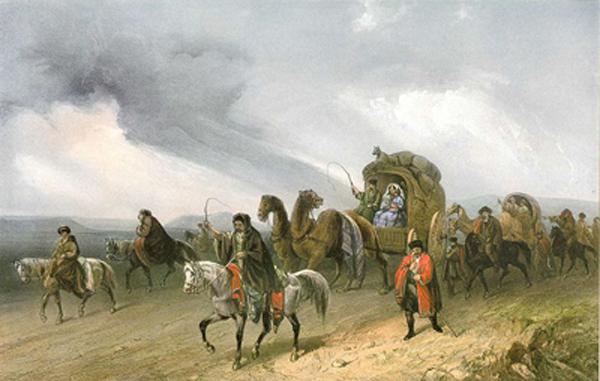 Карло Боссоли (1815-1889). Татары, путешествующие по степи.