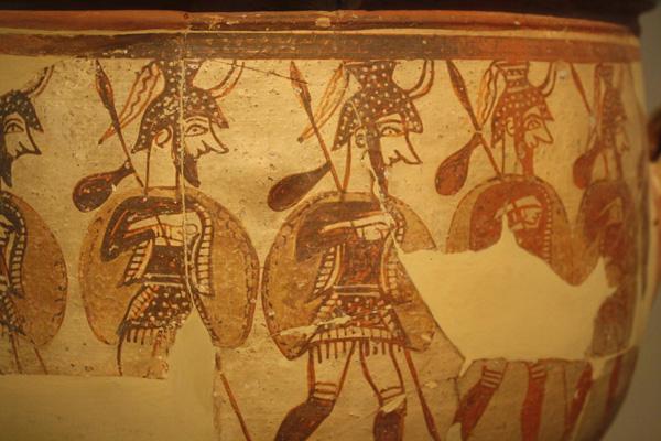 Микенские воины 12 века до н.э. Кратер.