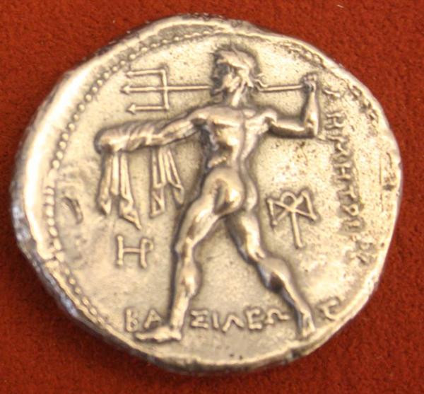 Посейдон, Македон Серебр. Тетрадрахма, 386-203 вв до н.э.