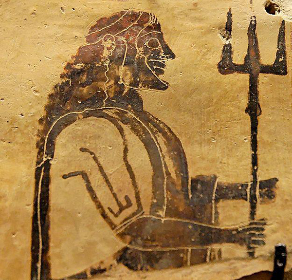 Посейдон с тризубцем- 550 г. до н.э.