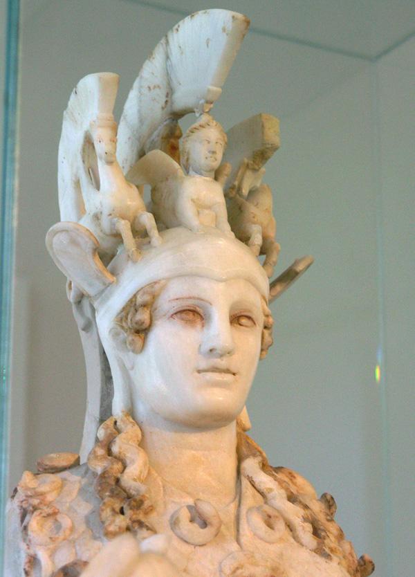 «Афина Парфенос» работа мастера Фидия