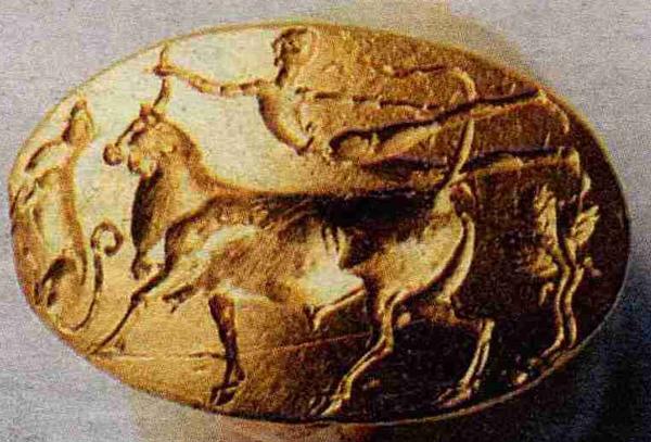 бык-Кольцо Тезея=. Микенский