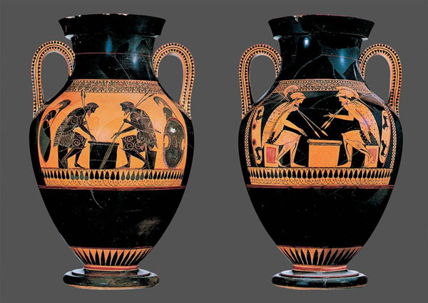andokides lysippides billingual both sides achilles ajax