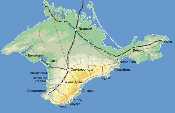 карта--Krym