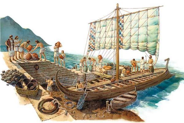 этрусский корабль реконструкции