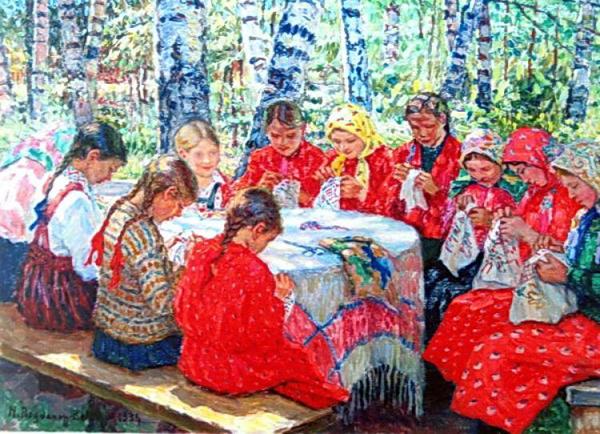 10-Богданов-Бельский Н.П. Класс рукоделия