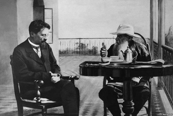 1901- А.П. Чехов и Л.Н. Толстой в Гаспре