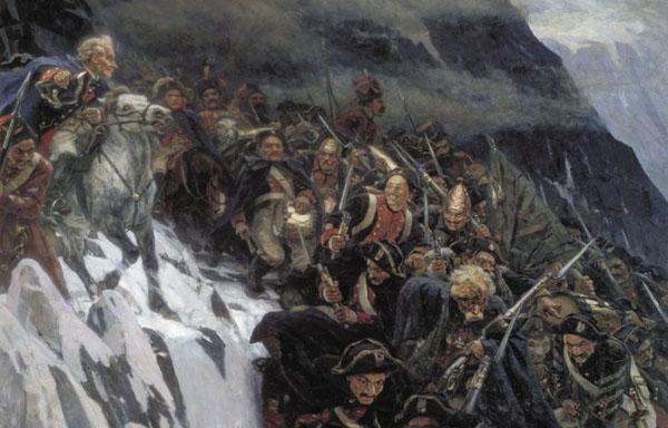 Василий Суриков-через альпы