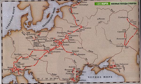военные походы- Суворова