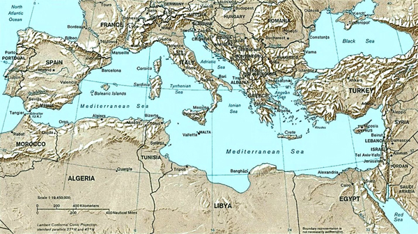 карта-кипр-mediterranean_relief_map