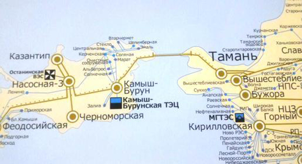 Энергомост Тамань - Крым