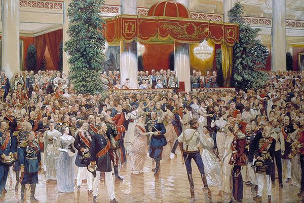 Бал в Петербургском Дворянском собрании, 1913 года. Д.Н.Кардовский.