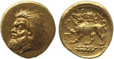 Статер-золот459г.до н.э.-Сатир+Грифон с копьёмПАN