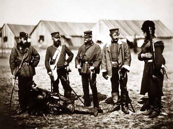 Уильям Манро с офицерам 39-го полка. Крым, 1855 г-Colonel-Munro