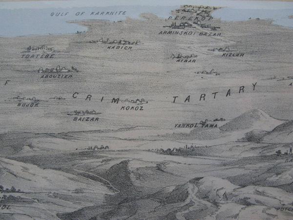 Фрагмент литографии-Перекоп-1855 г.