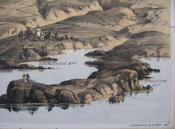 Фрагмент литографии Севастополь-Херсонес-1855 г.