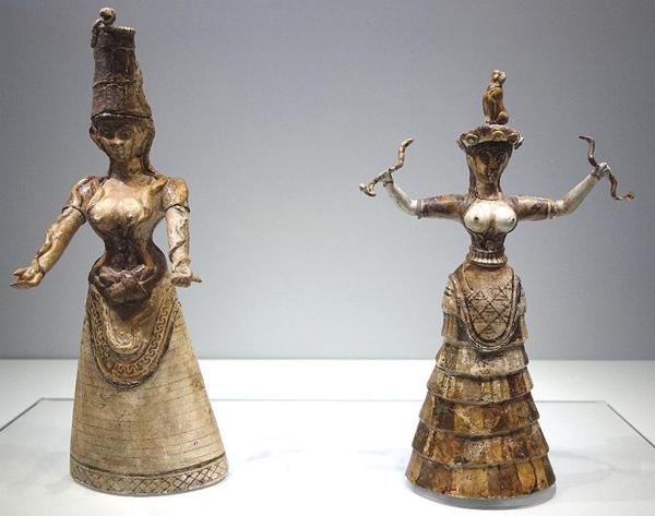 апи-богиня со змеями-Knossos (ca. 1500 BC.) крит