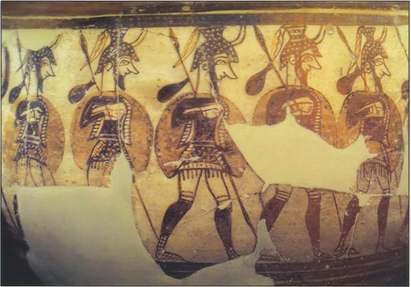 воины в рог-шлемах-marsh-voinov