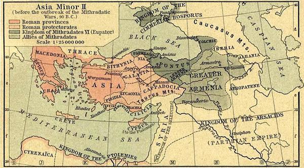 карта-Война с Митридатом