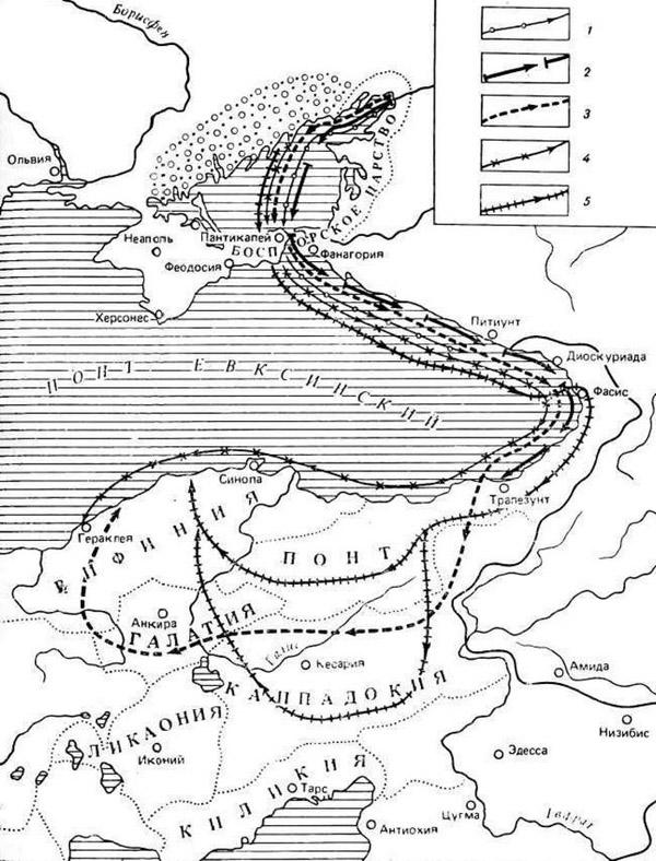 карта-готы-походы