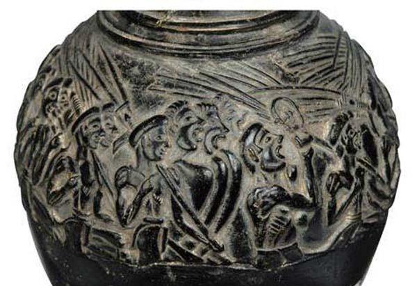 керам-праздн.воины-поют ииграют на египетских муз инструм