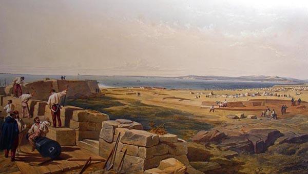 керчь---Французские войска ведут фортификационные работы в Еникале.