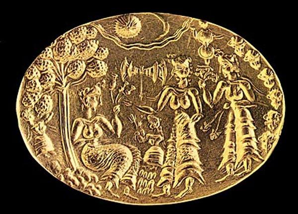 печать-ритуального танца. 1500 г. до н.э. -Crete
