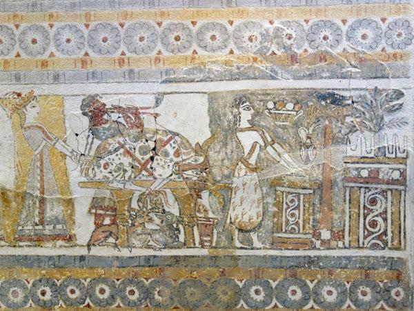 фреска-жертв. принош. козлы под столом